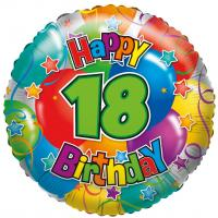 "1 Foil Balloon ""18""  Happy Birthday"