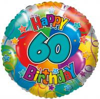 "1 Folienballon ""60"" Happy Birthday"