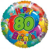 "1 Folienballon ""80"" Happy Birthday"