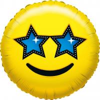 1 Folienballon What`s Smile Star