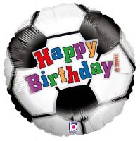1 Foil Balloon Happy Birthday Soccer