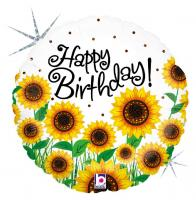 1 Foil Balloon Birthday Sun Flowers