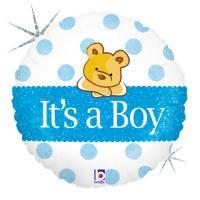 1 Foil Balloon It`s a boy Bear