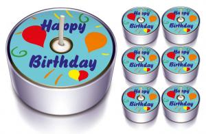 6 Design-Lichter Happy Birthday