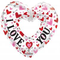 "1 Foil Balloon Riesenheart  ""I love you"""