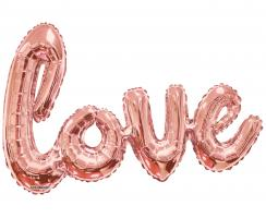Giant Foil  LOVE rose gold - Heliumquality Jumbo - Special price