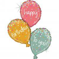 1 Foil Balloon Happy Birthday balloons