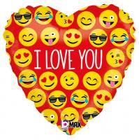 1 Folienballon I love you Smile