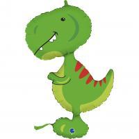 """1 Foil Balloon Dino Rex 97 cm/ 38"""""""