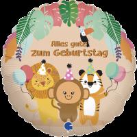 1 Folienballon Alles Gute zum Geburtstag Tropische Tiere