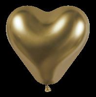 25 Herzballons glossy gold/Heart Balloons shiny gold