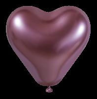 25 Herzballons glossy pink/Heart Balloons shiny pink