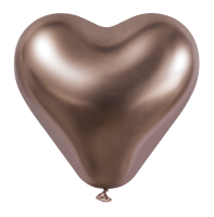 25 Herzballons glossy rose gold/Heart Balloons shiny rose gold
