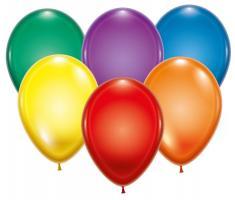 100 Ballons kristall sortiert
