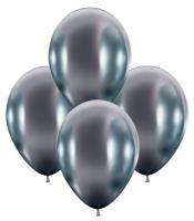 50 Balloons glossy silver