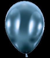 50 Ballons / Balloons glossy blau / blue