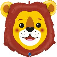 1 Foil Balloon Lion 74 cm/ 29 inch
