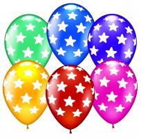 30 Ballons Sterne metallic