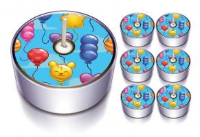 6 Design-Lichter Ballon Party