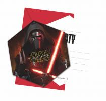 6 Einladungskarten  Star Wars - The Force Awakens