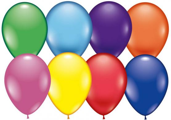 8 Balloons assorted