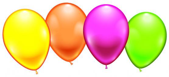 8 Balloons neon