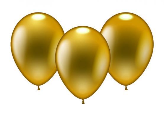 8 Balloons gold