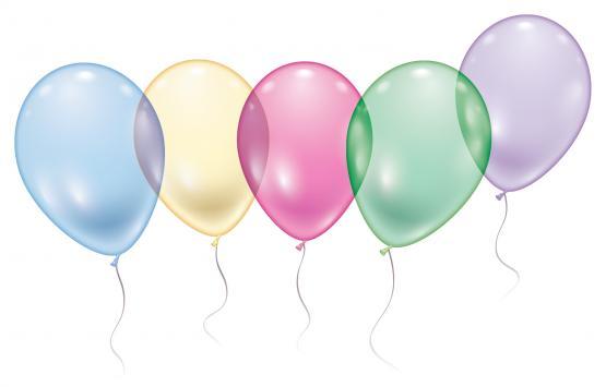 "5 Maxi Kristall-Ballons / Maxi Crystal Balloons ""Aqua"""