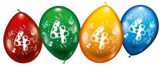 """8 Balloons """"4"""""""