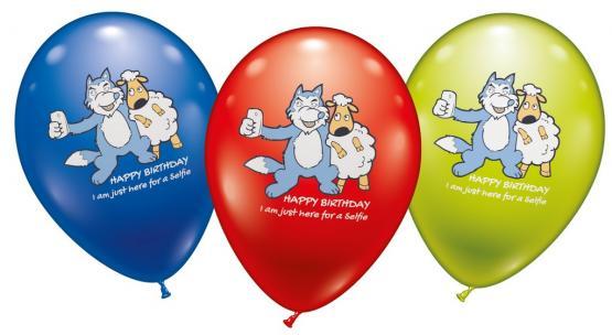 6 Ballons Birthday Selfie - Sonderpreis
