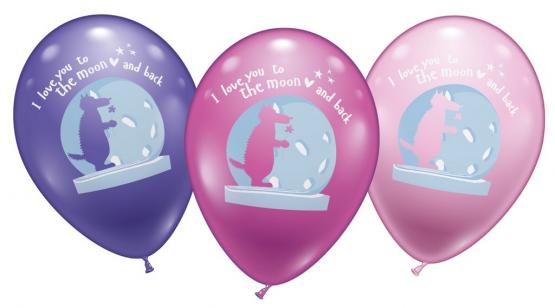 6 Balloons Love you to the moon