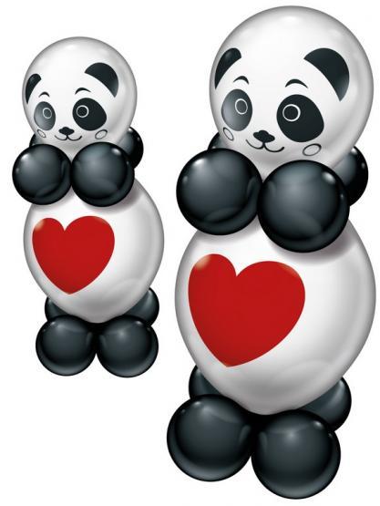 Balloon Set 2 Funny Pandas 20 pcs.