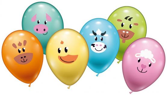 "6 Ballons ""Animal Smile"""