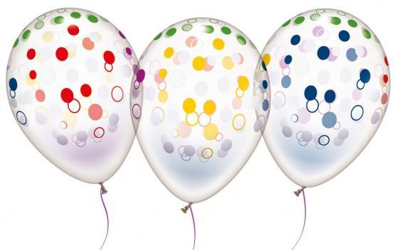 """6 Ballons """"Konfetti"""""""