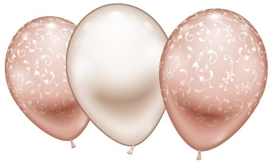 "6 Ballons ""Fashion rose gold"""