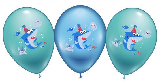 6 Ballons / Balloons Baby Shark Party