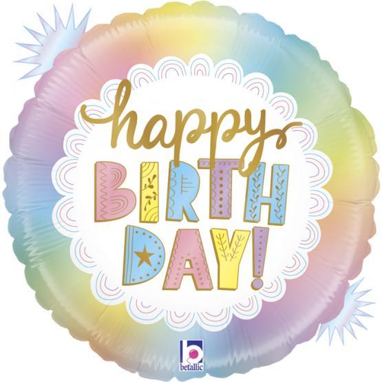 "1 Folienballon Happy Birthday  Opal 46 cm /18"""