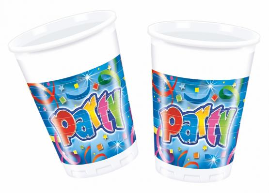 8 Becher Party Streamers