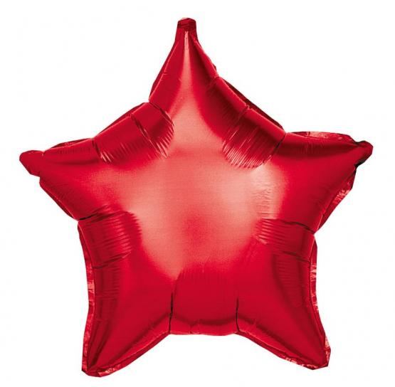 10 Folienballon Stern rot