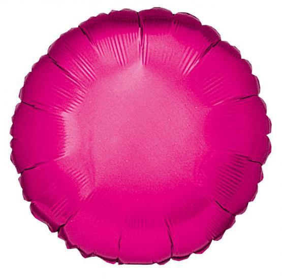 10 Folienballon Rund magenta