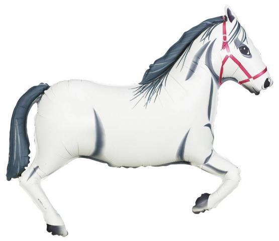 1 Folienballon Pferd weiß