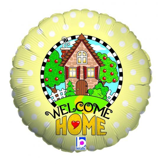 1 Folienballon Welcome Home