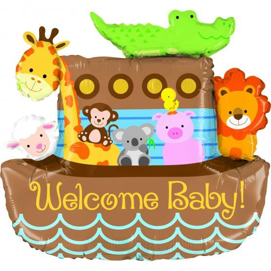 1 Foil Balloon Noah´s Ark Welcome Baby