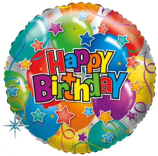 1 Folienballon Party Happy Birthday