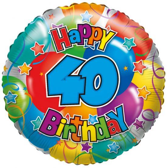 "1 Folienballon ""40"" Happy Birthday"