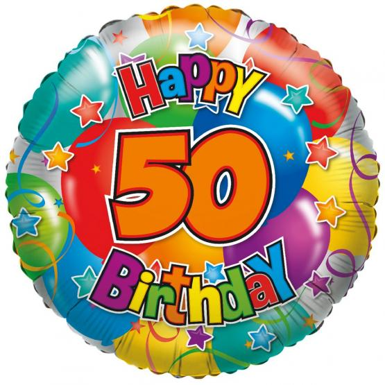 "1 Folienballon ""50"" Happy Birthday"