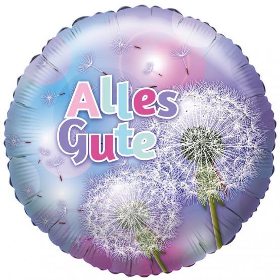 """1 Folienballon """"Alles Gute""""  Pusteblume"""