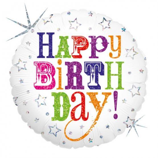 1 Foil Balloon Happy Birthday
