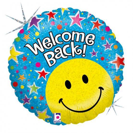 1 Folienballon Welcome back Smiley