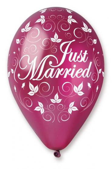 30 Ballons Just married met.burgund